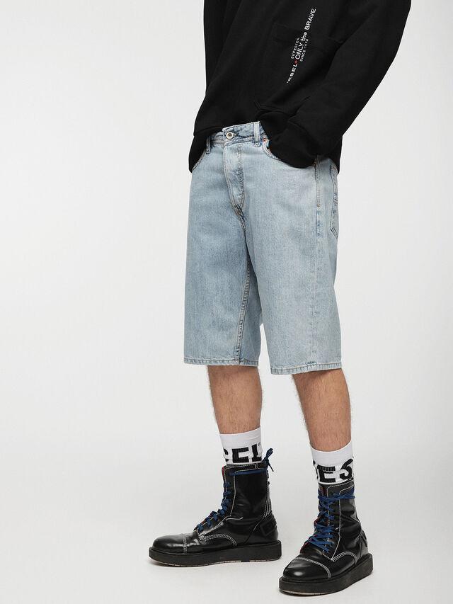 Diesel - KEESHORT, Bleu Clair - Shorts - Image 1