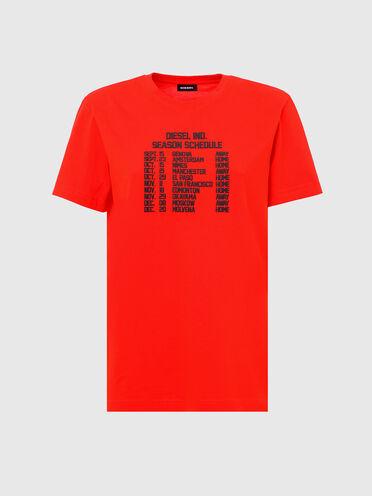 T-shirt en coton avec impression à l'encre bouffante