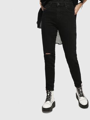 Babhila High 084ZN, Noir/Gris foncé - Jeans