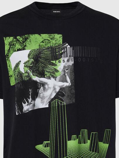 Diesel - T-JUBIND-SLITS, Noir - T-Shirts - Image 3