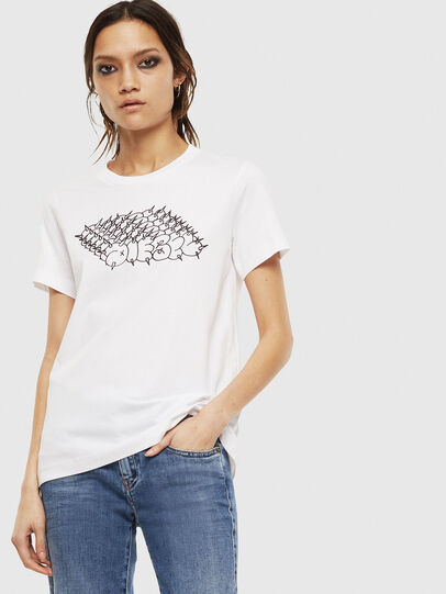 Diesel - T-SILY-S6, Blanc - T-Shirts - Image 1
