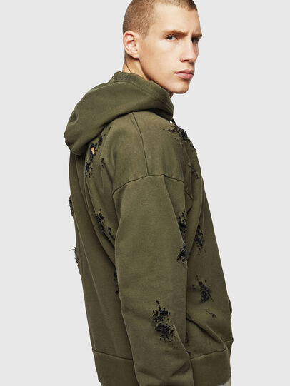Diesel - S-ALBY-RIP, Vert Militaire - Pull Cotton - Image 5
