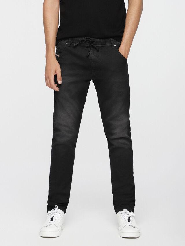 Diesel - Krooley JoggJeans 0670M, Jean Noir - Jeans - Image 1