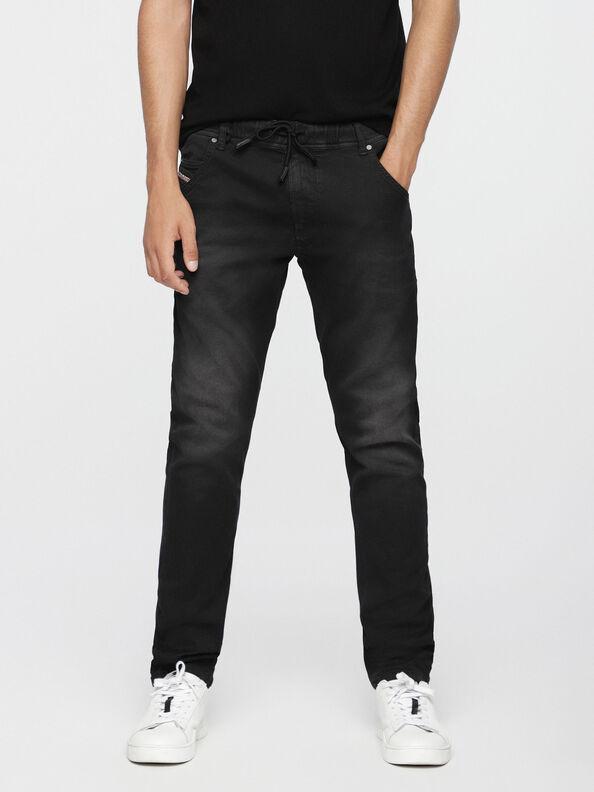 Krooley JoggJeans 0670M, Jean Noir - Jeans