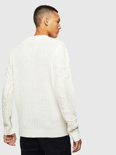 Diesel - K-BRIGLY, Blanc - Pull Maille - Image 3