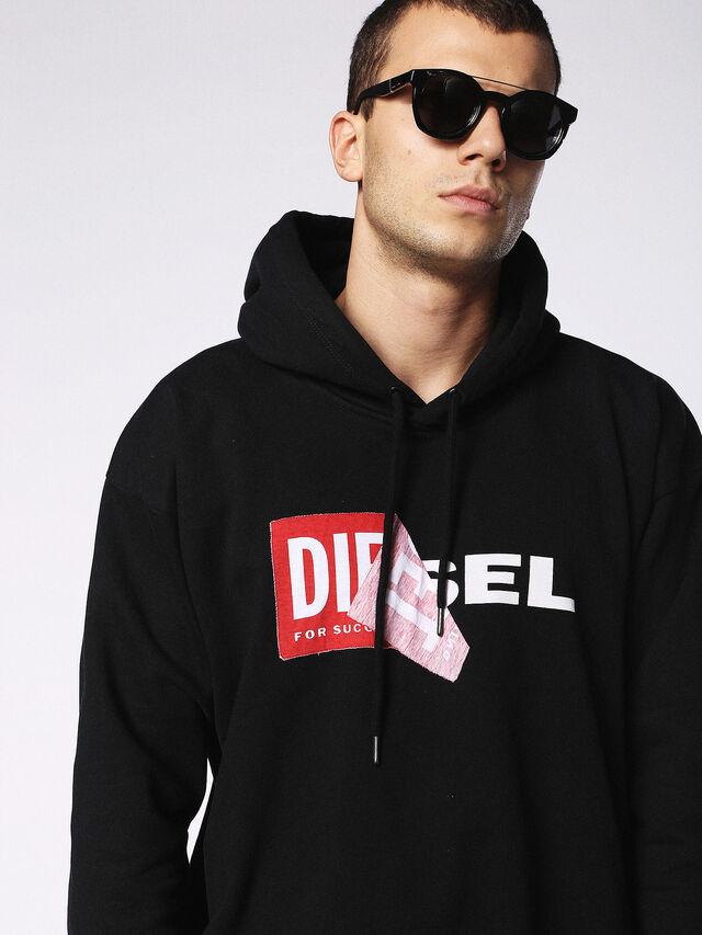 Diesel - DL0251, Noir Brillant - Lunettes de soleil - Image 5