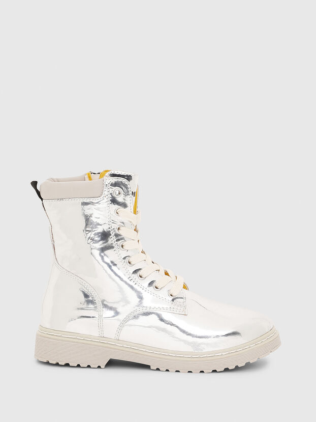 HB LACE UP 04 CH, Gris argenté - Footwear