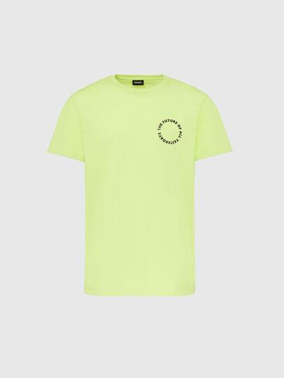 Diesel - T-DIEGOS-X46, Vert Fluo - T-Shirts - Image 1