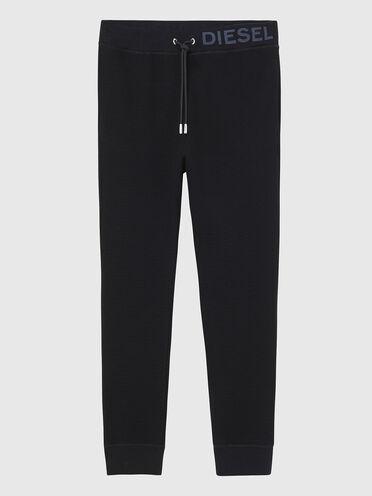 Pantalon de survêtement en maille gaufrée avec imprimé