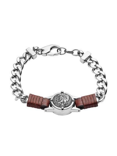 Diesel - BRACELET DX1052, Gris argenté - Bracelets - Image 1