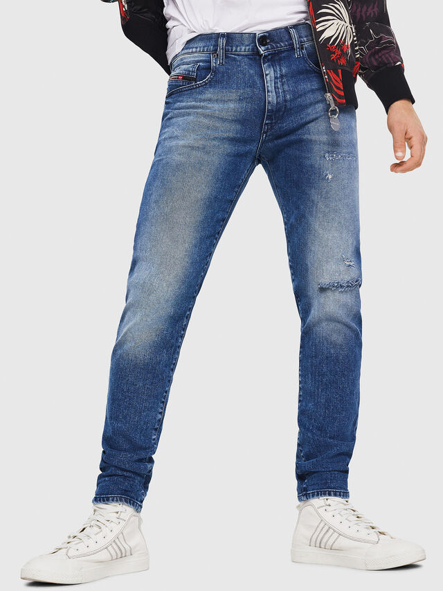 Diesel - D-Strukt 081AQ, Bleu moyen - Jeans - Image 1