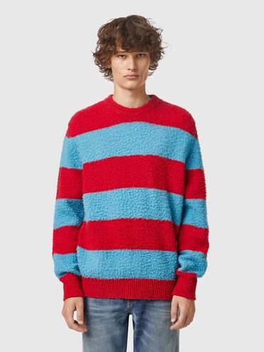 Pull en laine à rayures