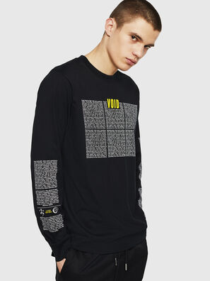 T-JUST-LS-NEW, Noir - T-Shirts