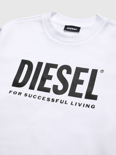 Diesel - SCREWDIVISION-LOGO O, Blanc - Pull Cotton - Image 3