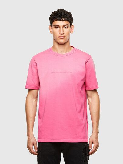 Diesel - T-JUBIND-SLITS-A1, Rose - T-Shirts - Image 1