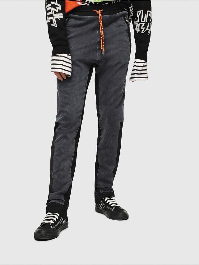 Diesel - D-Eeley JoggJeans 0LAUH, Noir/Gris foncé - Jeans - Image 1