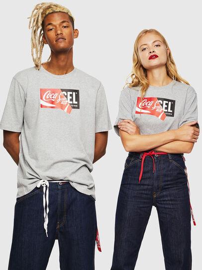 Diesel - CC-T-JUST-COLA, Gris - T-Shirts - Image 6