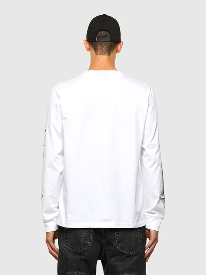 Diesel - T-JUST-LS-A8, Blanc - T-Shirts - Image 2