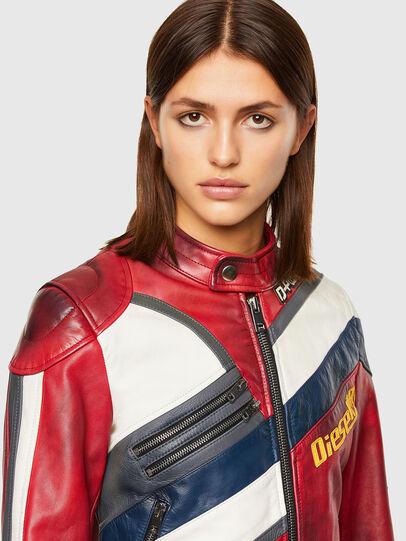 Diesel - L-POLLY, Rouge - Vestes de cuir - Image 3