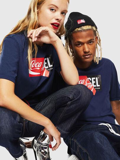 Diesel - CC-T-JUST-COLA, Bleu Foncé - T-Shirts - Image 6