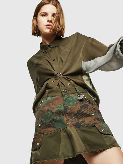 Diesel - O-AMATA, Vert Camouflage - Jupes - Image 1
