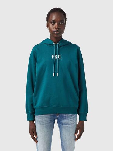 Sweat-shirt à capuche Green Label avec logo imprimé