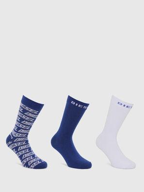 SKM-RAY-THREEPACK, Bleu/Blanc - Chaussettes