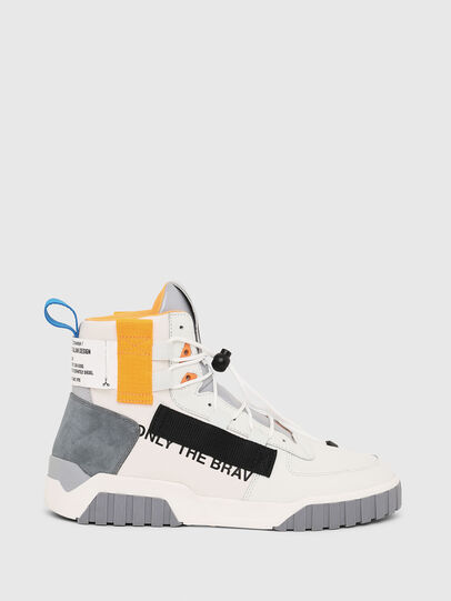 Diesel - S-RUA MID SP, Blanc - Baskets - Image 1