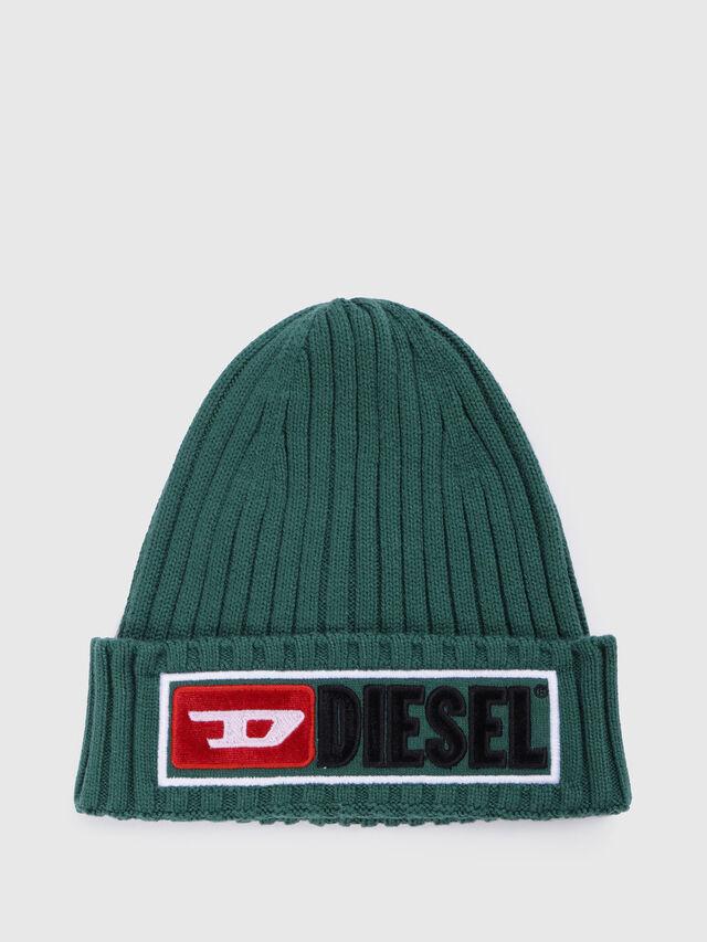 Diesel - K-CODER-B, Vert - Bérets, chapeaux et gants - Image 1