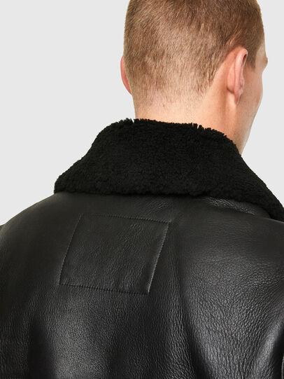 Diesel - L-ARNOLD, Noir - Vestes de cuir - Image 4