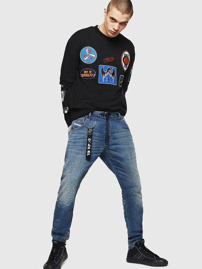 Diesel - Krooley JoggJeans 069HG, Bleu moyen - Jeans - Image 6
