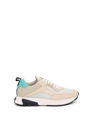 Sneakers en mesh, en tissu indéchirable et en daim