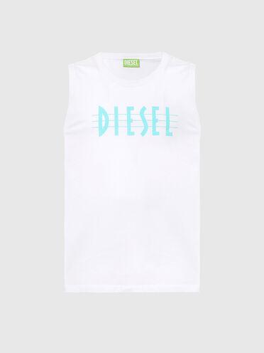 Débardeur label vert avec logo imprimé