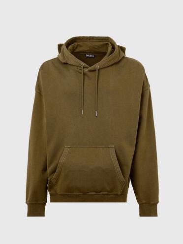 Sweat-shirt à capuche teint par pigmentation avec poches utilitaires