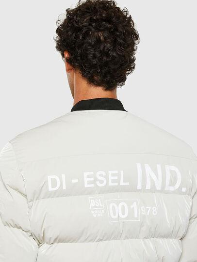 Diesel - W-ON-A, Blanc - Vestes d'hiver - Image 4