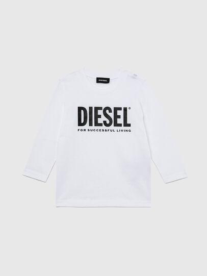 Diesel - TJUSTLOGOB ML-R, Blanc - T-shirts et Hauts - Image 1