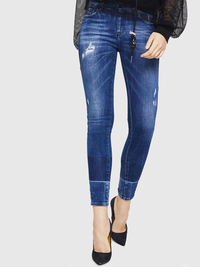Diesel - Slandy 0090K, Bleu moyen - Jeans - Image 1