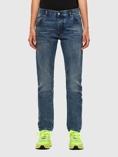 Diesel - Krailey JoggJeans 069NZ, Bleu moyen - Jeans - Image 1