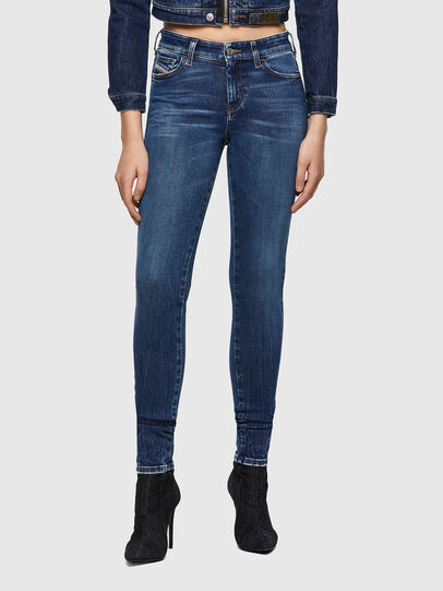 Diesel - Slandy 009ZX, Bleu Foncé - Jeans - Image 1