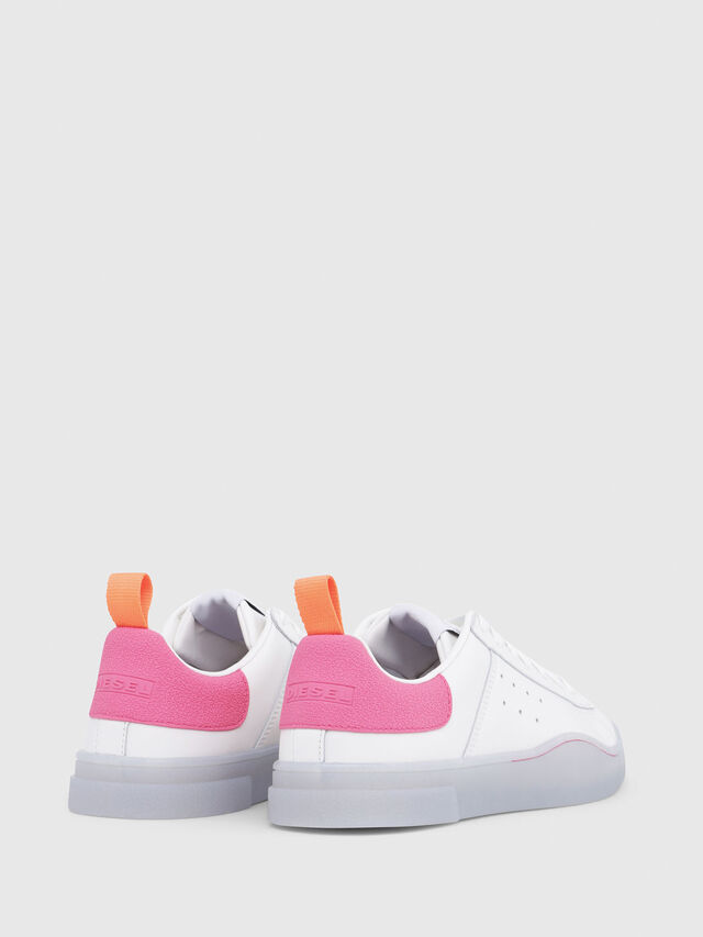 Diesel - S-CLEVER LOW W, Blanc/Rose - Baskets - Image 3