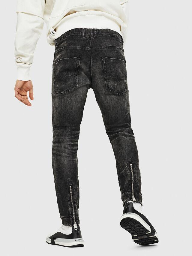 Diesel - Dvl-Krooley JoggJeans 0077S, Noir/Gris foncé - Jeans - Image 2
