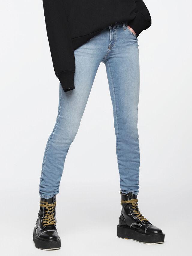 Diesel - Gracey JoggJeans 084UA, Bleu Clair - Jeans - Image 1