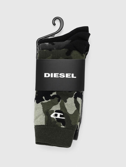 Diesel - SKM-RAY-THREEPACK, Noir/Vert - Chaussettes - Image 2