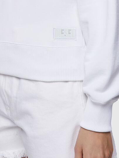 Diesel - F-LYM-HOOD-C.C, Blanc - Pull Cotton - Image 4