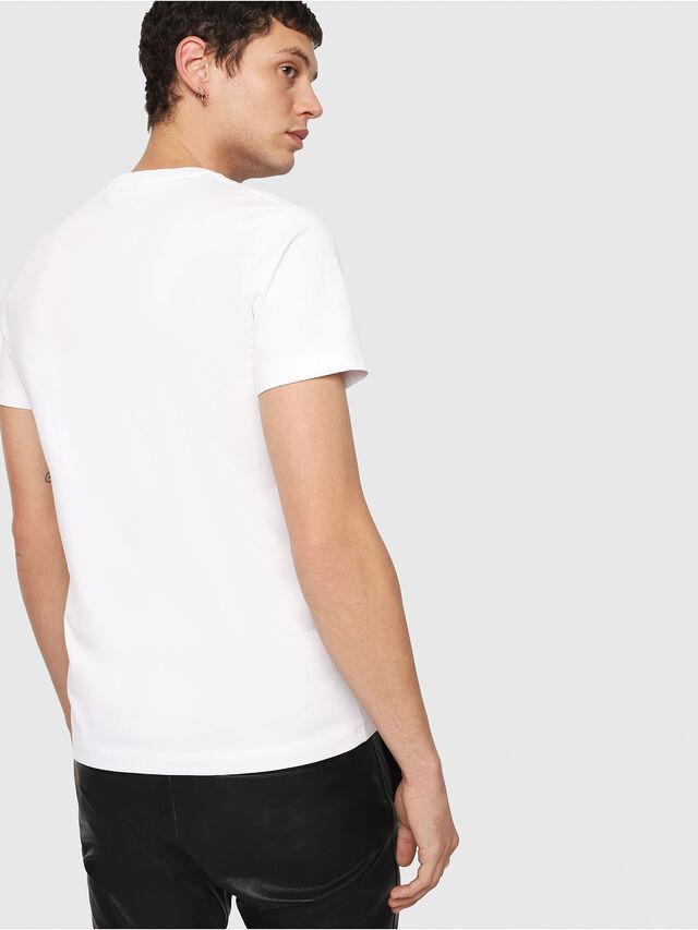 Diesel T-DIEGO-QA, Blanc - T-Shirts - Image 2