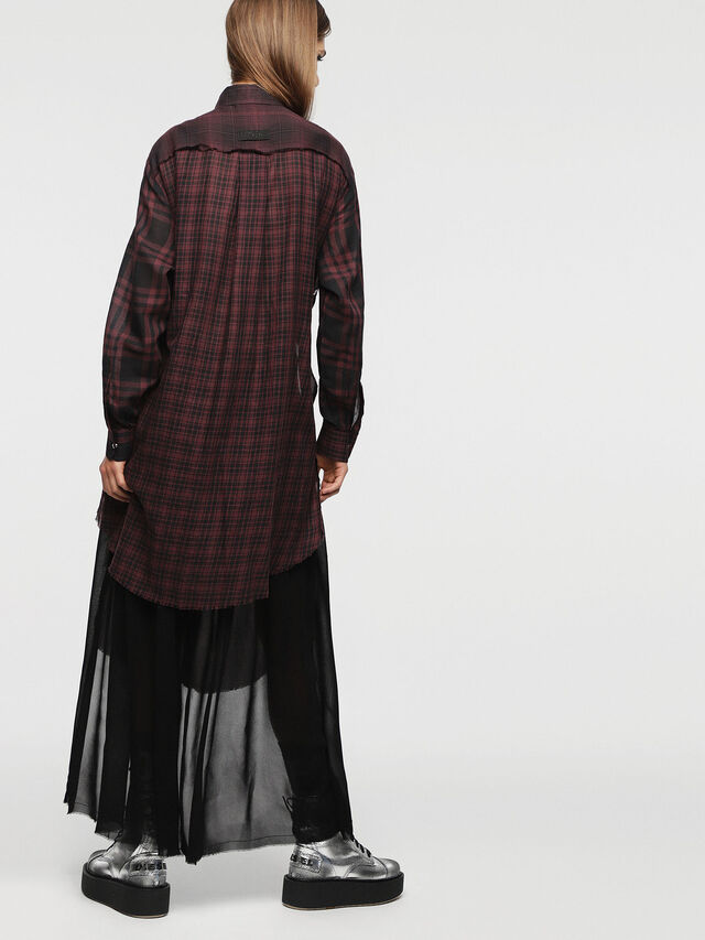 Diesel - D-BAGGY, Rouge/Noir - Robes - Image 2