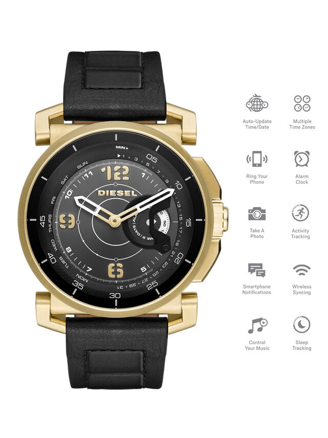 Diesel - DT1004, Noir - Smartwatches - Image 1
