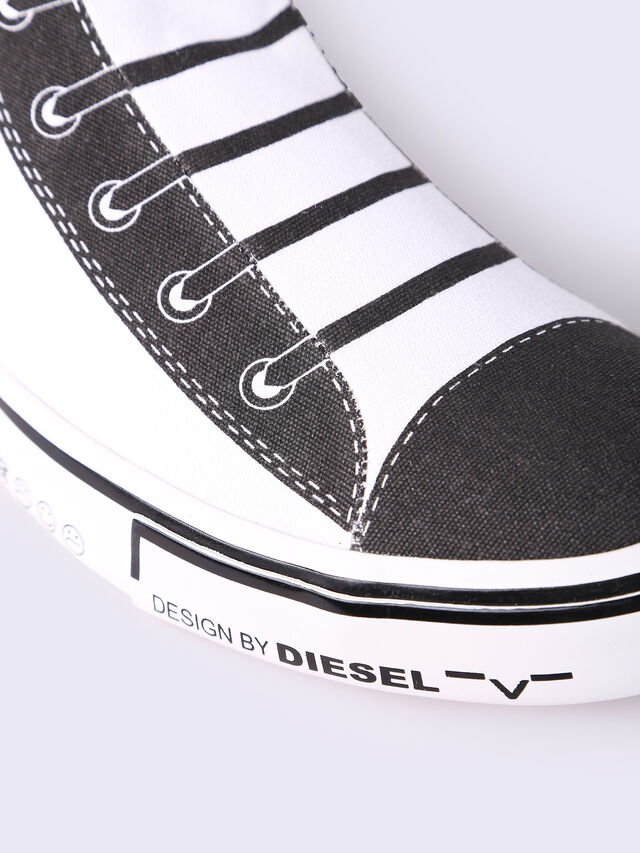 S-DIESEL IMAGINEE MID SLIP-ON, Blanc/Noir