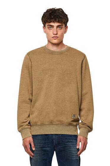 Sweat-shirt teint en plongée avec empiècements