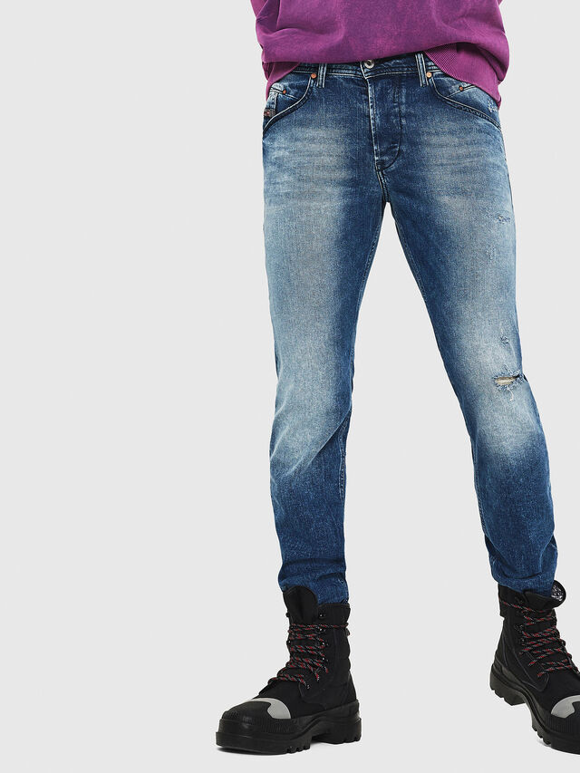 Diesel - Belther 081AQ, Bleu moyen - Jeans - Image 4